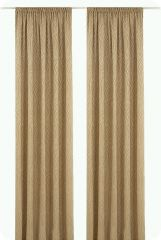 Curtain with smockribbon, 245cmx137cm, brown