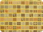 Upholstery fabric,squares, multicolour, 140cm