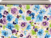 Lightweight cotton fabric, flowers, ca.157cm
