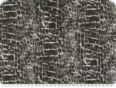 Leftover, cotton, reptile pattern, grey, 150x90cm, soiled