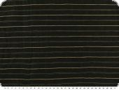 Linen fabric with wovwn stzripes, black-gold, 140cm