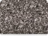 Cauterised fabric, flocked, paisley, brown-white, 140cm