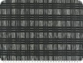 Taffeta, crash, with woven stripes, black, 145cm