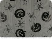Tulle with foils-print, Halloween-Carnival, black, 150cm