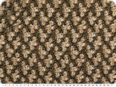 Cotton knitware with lurex, middle brown-black, 150cm