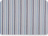 Cotton-linen blend, stripes, blue-white, 150cm