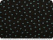 Walk wool with woven-in dots, black-petrol, 165cm