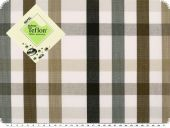 Awning cloth, teflon coatet, checked, beige-brown, 158cm