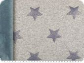 Leftover, Double-face, teddy, lurex stars, blue-grey, 160x60