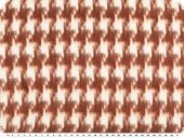 Jacket and coat fabric,  houndstooth, white-reddish brown,