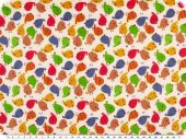 Children fabric, cotton, twill, birds, multicolour, 160cm
