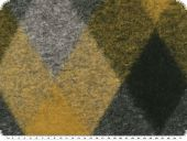 Jacket and coat fabric, diamons, grey-yellow, 150cm