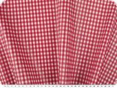 Coated cotton fabric, checks, washable, 4mm  red, 140cm