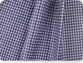 Coated cotton fabric, checks, washable, blue, 140cm