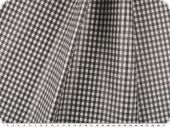 Coated cotton fabric, checks, washable, grey, 140cm
