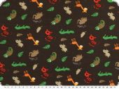 Cotton jersey, animals, brown-multicolour, 150cm