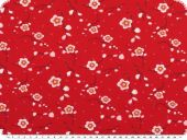 cotton jersey, flowers, red, 150cm