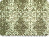 Chiffon-print, crashed, reptile print, green-mud,  140 cm
