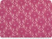Cotton lace, flowers, fuchsia, 145cm