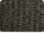 Knitware with lurex, cable stitch, black and brown, 150cm