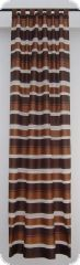Curtains on loops, 245cmx135cm, brown