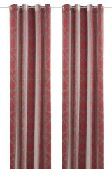 Eyed Curtain Valentino.,  245cmx152cm, red-grey