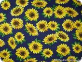 Sunflowers, small, on blue, ca. 140cm