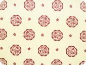 Nice deco fabric, flowers, ecru-red, 160cm