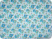 Floral cambric, cotton, white blue, ca. 144cm