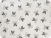 Children fabric pirate skull,white, ca. 140cm