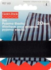 Gold Zack elastic band, pyjama-elastic, 20mm, L: 2m, black