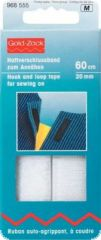 Hook and loop tape, for sewing on, 20mm, L:60cm, white
