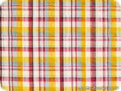 Checked fabric, coloured woven, seersucker