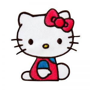 Appliqué, Frozen,Hello Kitty sitting , ca. 5,5 , to iron on