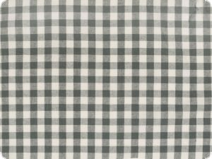 Cotton fabric, checked, grey, 140cm