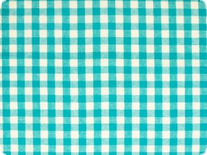 Cotton fabric, checked, turquoise, 140cm