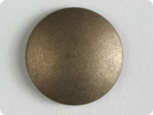 full metal button - Size: 23mm - Color: antique brass