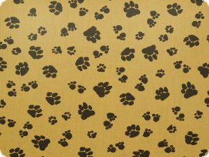 Children fabric,animal paws,brown, 140cm