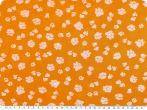 Children fabric,animal paws, corn-white, 140cn