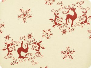 Festive christmas fabric, cotton-linen, reindeer, 160cm