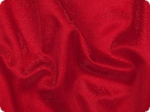 Knitted fabric with lurex & glitter, red, 150cm