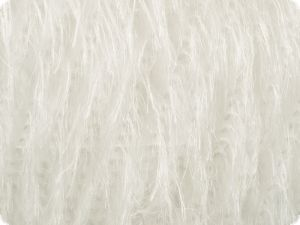 Fringe effect fabric for Charleston carnival dress, white
