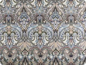 Deco fabric, digital print,  paisley-flowers, 140cm
