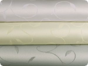 Table cloth fabric, tendrills, teflon coated, white, 160cm