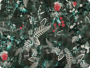 Deco fabric, digital print, tropical plants,width 140cm