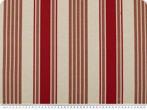 Jacquard deco fabric, stripes, red-brown, 280cm
