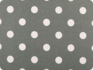 Coated cotton, dots, washable, middle grey, 140cm