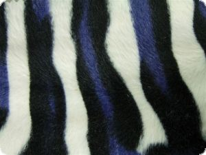 Animal faux fur, zebra phansy, ca. 150cm