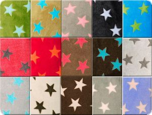 Superfleece, stars, navy-blue, 150cm