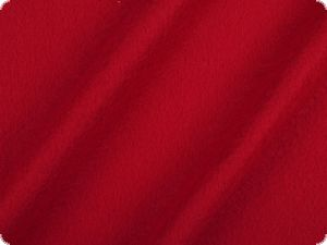 Cotton fleece, plain, red, 160cm